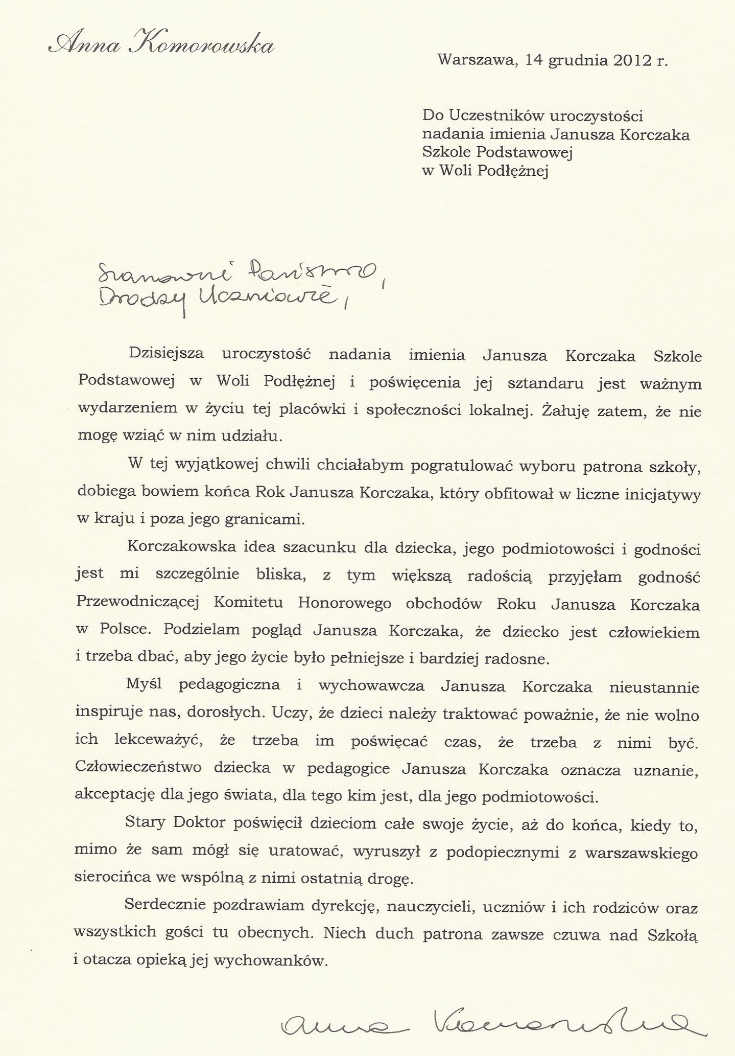 A. Komorowska